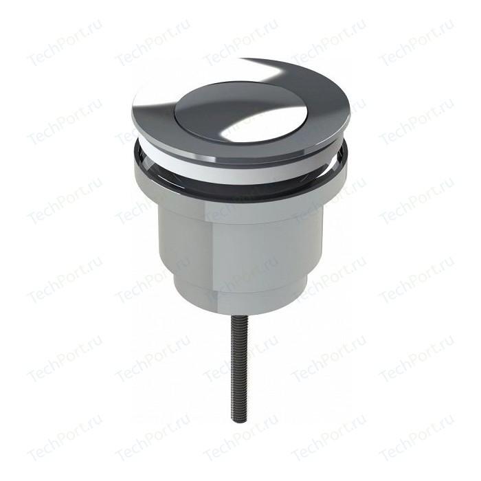 Донный клапан IDDIS полуавтоматический, универсальный, Snap-Up, 2 крышки, хром (001SB00i88)