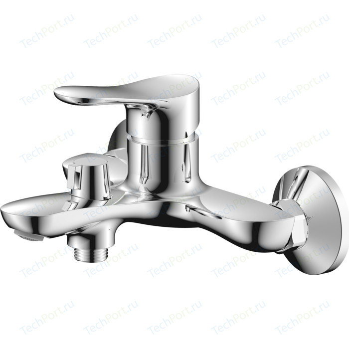 Смеситель для ванны Zenta Вейв с душем, хром (Z2703)