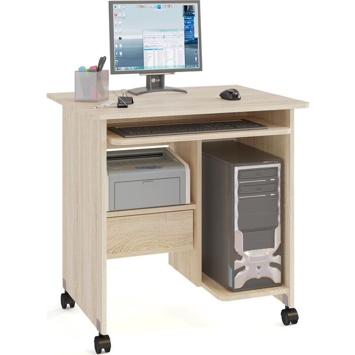 Стол компьютерный СОКОЛ КСТ-10.1 дуб сонома