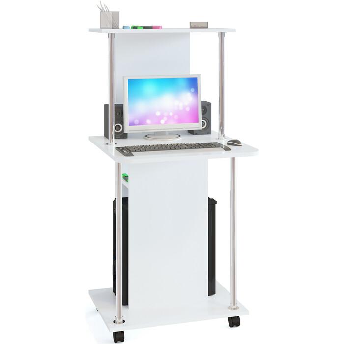 Стол компьютерный СОКОЛ КСТ-12 белый