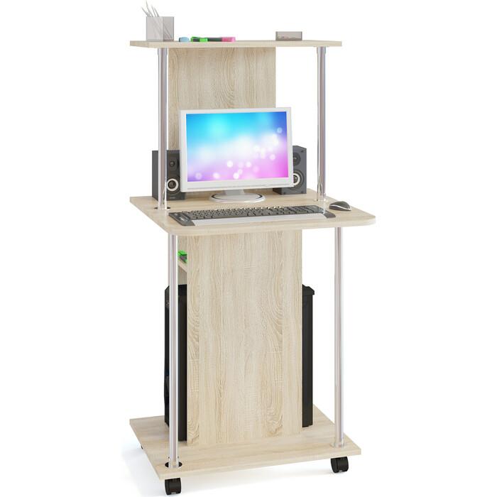 Стол компьютерный СОКОЛ КСТ-12 дуб сонома
