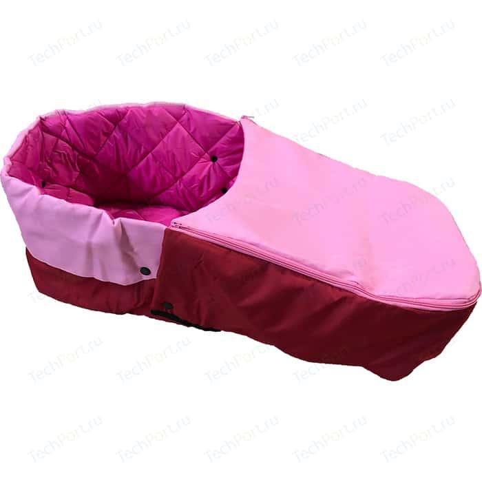 Матрасик для санок RT с раздельной попоной на молнии (розовый)