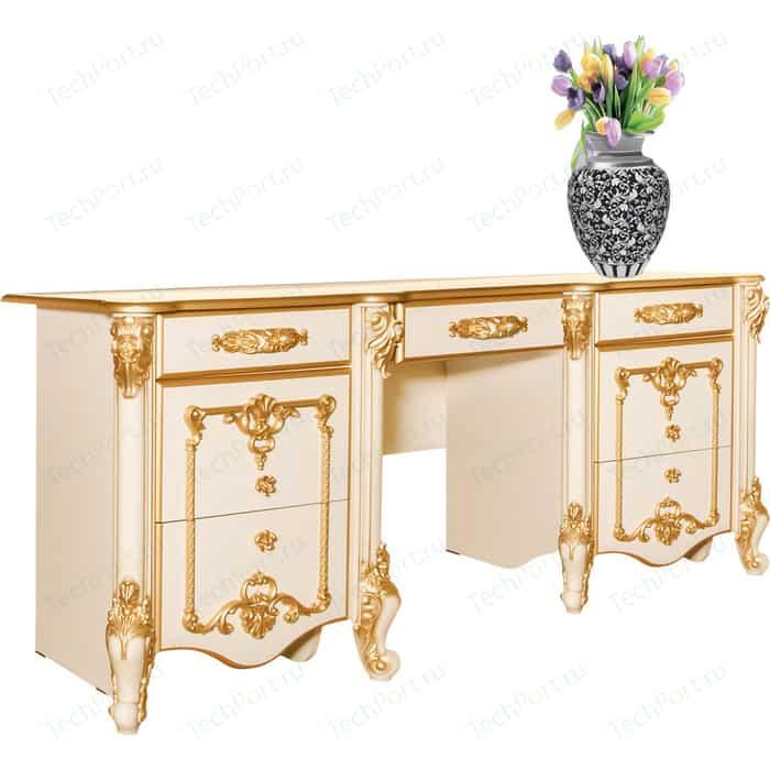 Стол туалетный Мэри Дольче Вита СДВ-05 белый глянец с золотом