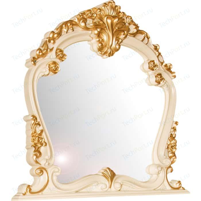 Зеркало Мэри Дольче Вита СДВ-06 белый глянец с золотом