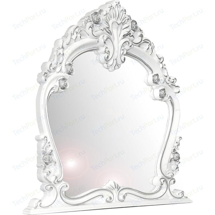 Зеркало Мэри Дольче Вита СДВ-06 белый глянец с серебром
