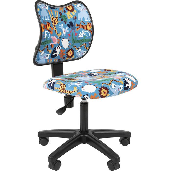Кресло Chairman Kids 102 ткань зоопарк черный