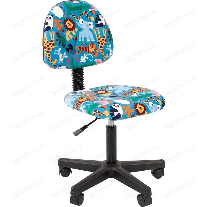 Кресло Chairman Kids 104 ткань зоопарк черный