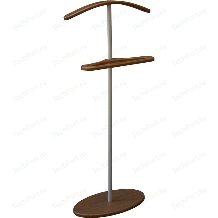 Вешалка костюмная Мебелик Дэви 3 металлик/средне-коричневый