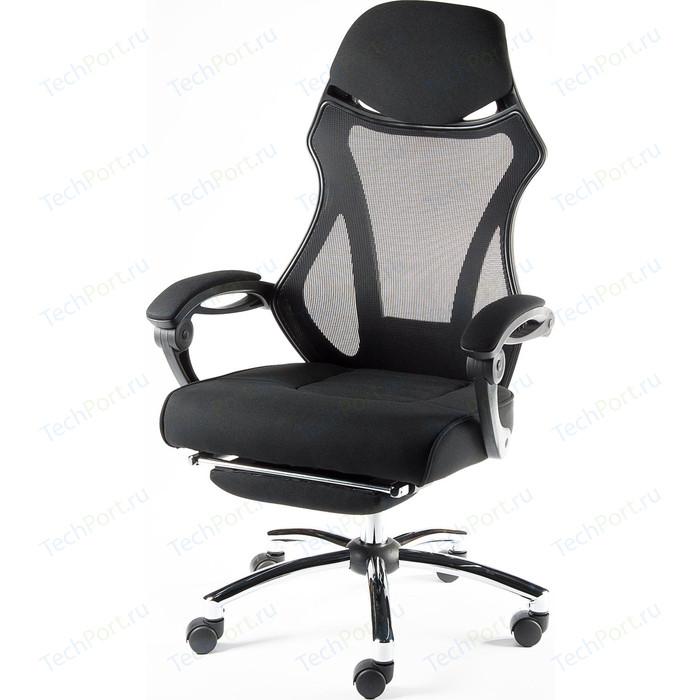Кресло офисное NORDEN 007 full black/ черный пластик/черная ткань/черная сетка
