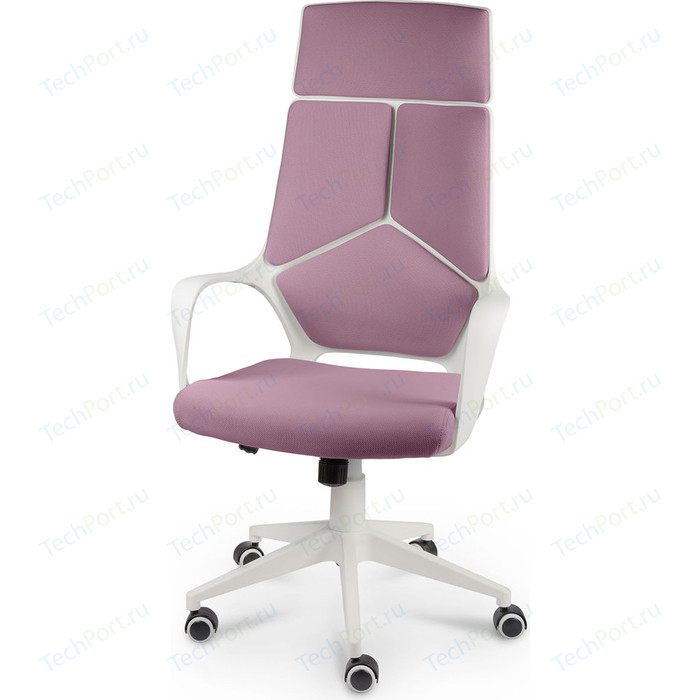 Кресло офисное NORDEN IQ white plastic violet белый пластик/фиолетовая ткань