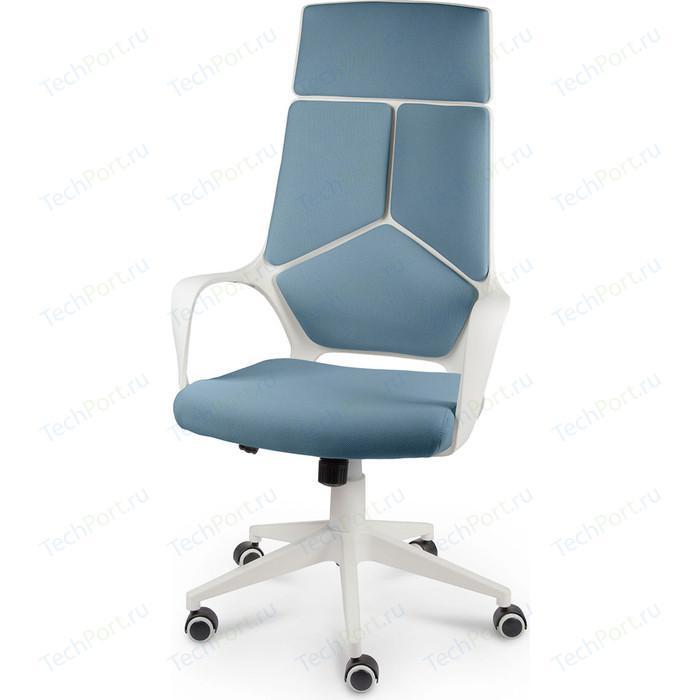 Кресло офисное NORDEN IQ white plastic blue белый пластик/голубая ткань
