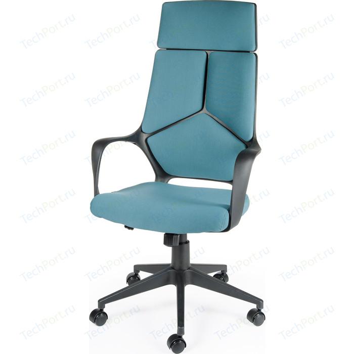 Кресло офисное NORDEN IQ black plastic blue черный пластик/голубая ткань