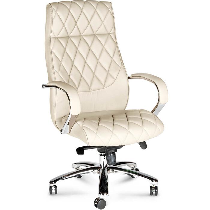 Фото - Кресло офисное NORDEN Бонд ivory сталь + хром/слоновая кость экокожа кресло офисное norden президент сталь хром черная экокожа