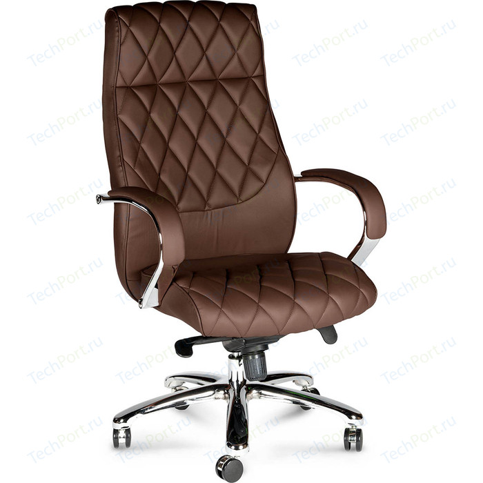 Фото - Кресло офисное NORDEN Бонд brown сталь + хром/темно- коричневая экокожа кресло офисное norden президент сталь хром черная экокожа