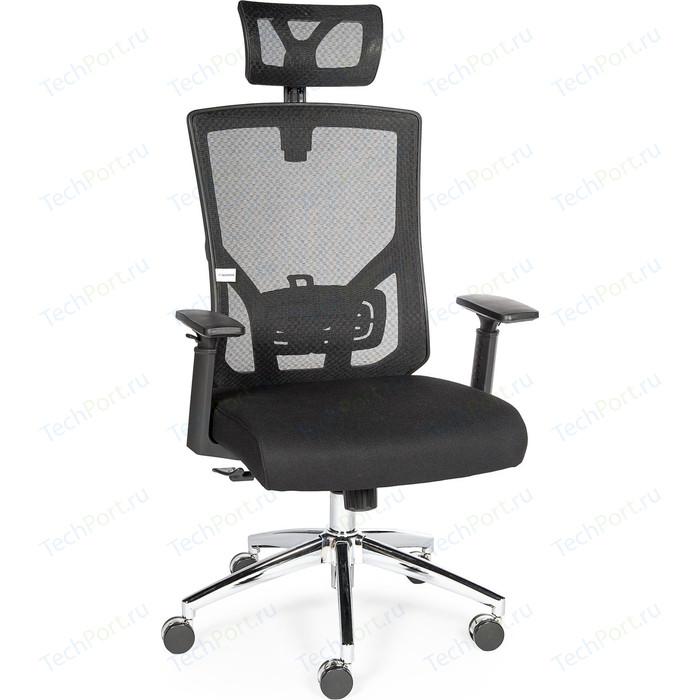 Кресло офисное NORDEN Гарда черный пластик/черная сетка/черная сидушка