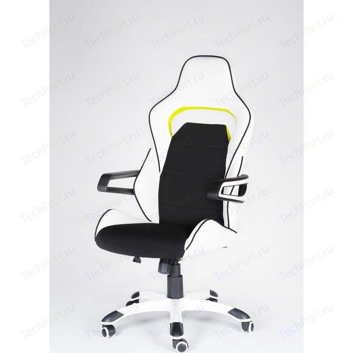 Кресло офисное NORDEN Джокер Z/(black+white) черно-белый пластик/черная ткань/белая экокожа кресло офисное norden союз черный пластик черная экокожа