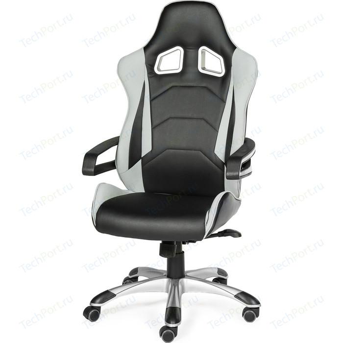 Фото - Кресло офисное NORDEN Джокер Х/черно-белый пластик/черная экокожа/серая ткань кресло офисное norden президент сталь хром черная экокожа