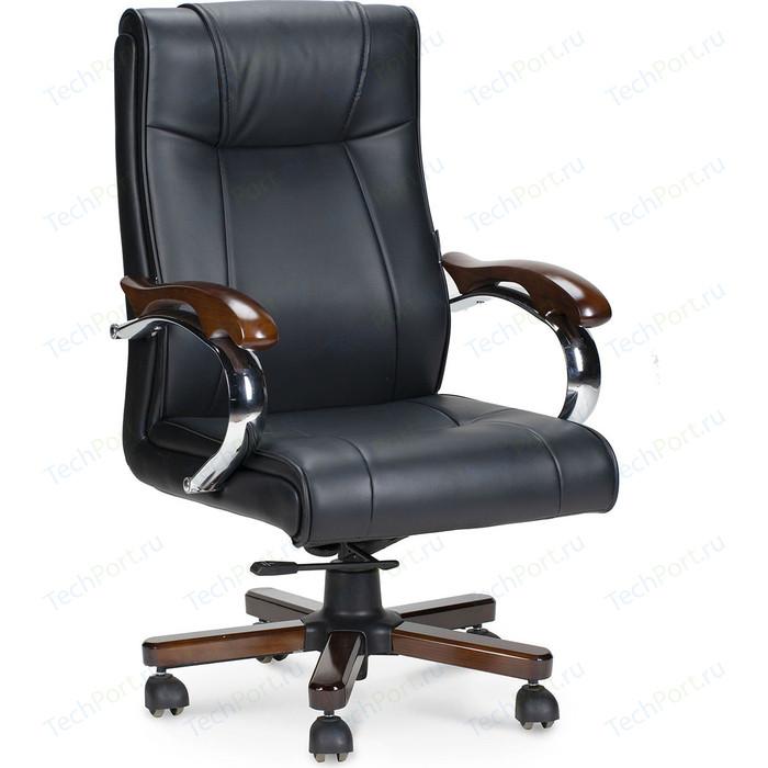 Кресло офисное NORDEN Дипломат дерево/черная экокожа