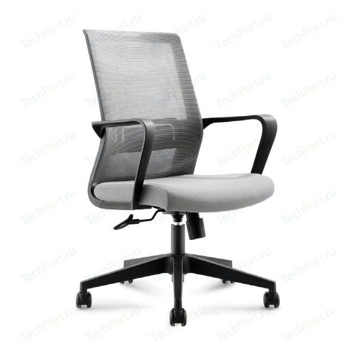 Кресло офисное NORDEN Интер LB/ черный пластик/серая сетка/серая ткань стул союз мебель см 8 каркас черный ткань серая 2 шт