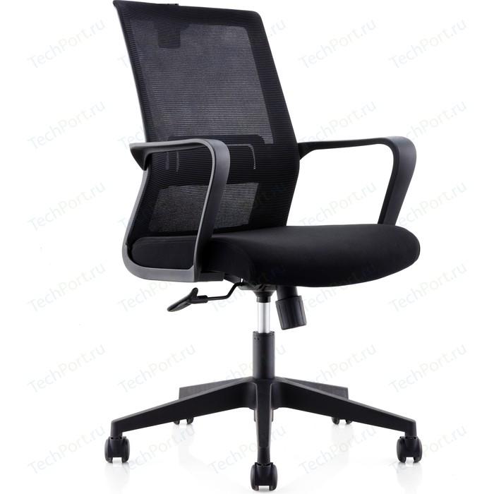 Кресло офисное NORDEN Интер LB/ черный пластик/черная сетка/черная ткань