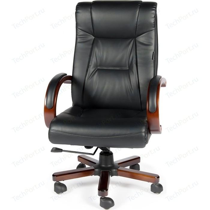Кресло офисное NORDEN Консул кожа/дерево/черная кожа
