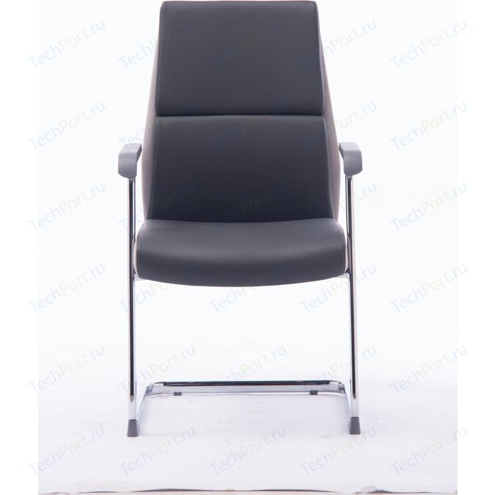 Кресло офисное NORDEN Лондон CF/ хром/темно серая+светло серая (вставки) экокожа