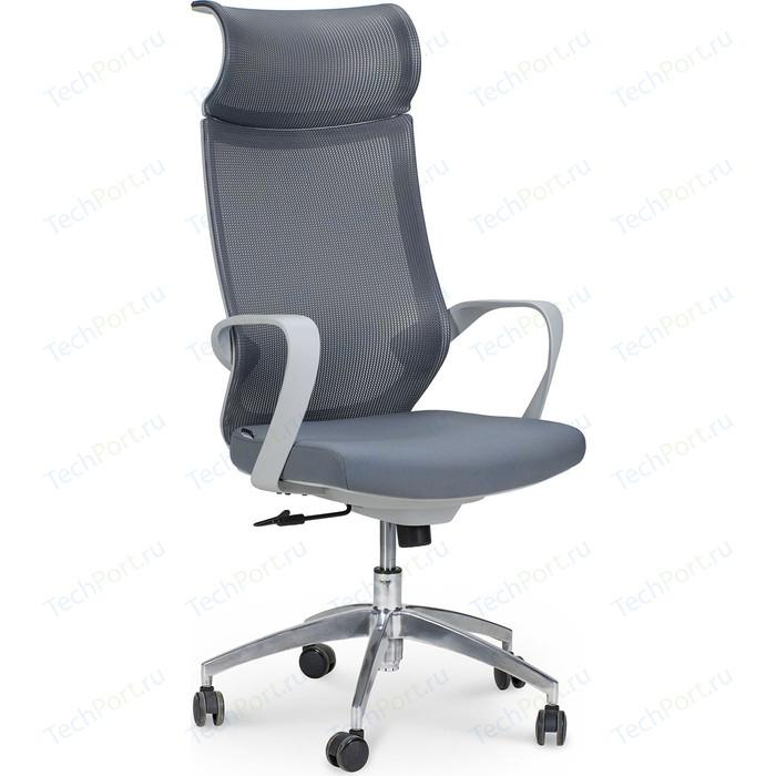 Кресло офисное NORDEN Спэйс gray/ светло-серый пластик/серая сетка/темно-серая ткань