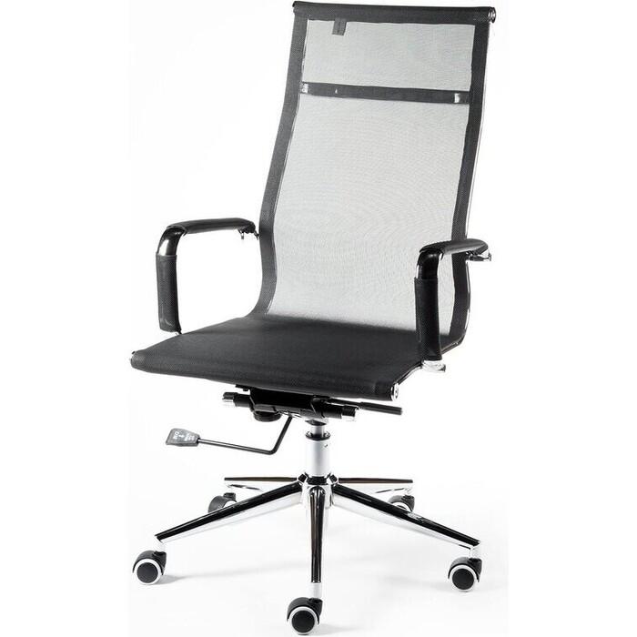 Кресло офисное NORDEN Хельмут black сталь + хром/черная сетка