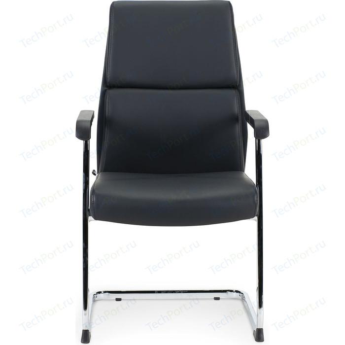 Кресло офисное NORDEN Лондон CF/ хром/черный + черные вставки экокожа