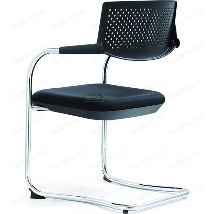 Кресло офисное NORDEN Самба black CF/ хром/черный пластик/черная ткань