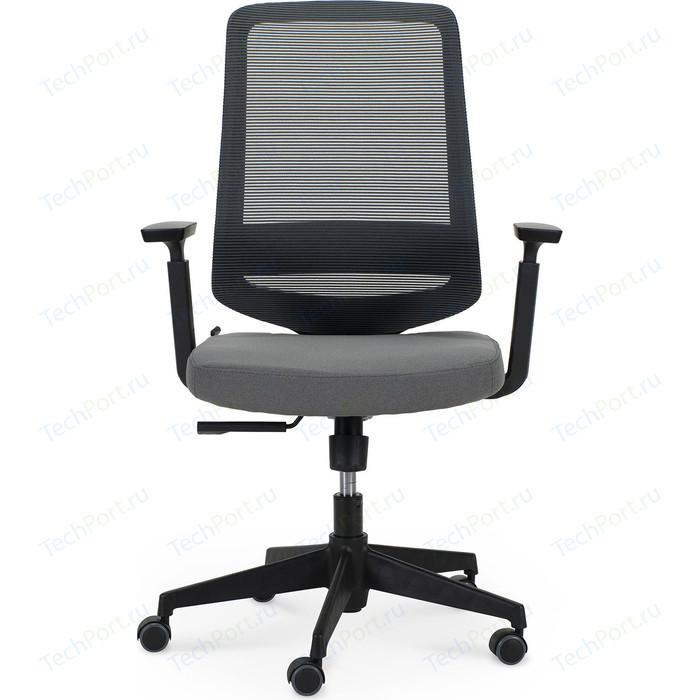 Кресло офисное NORDEN Лондон офис LB/ черный пластик/серая сетка/серая ткань стул союз мебель см 8 каркас черный ткань серая 2 шт