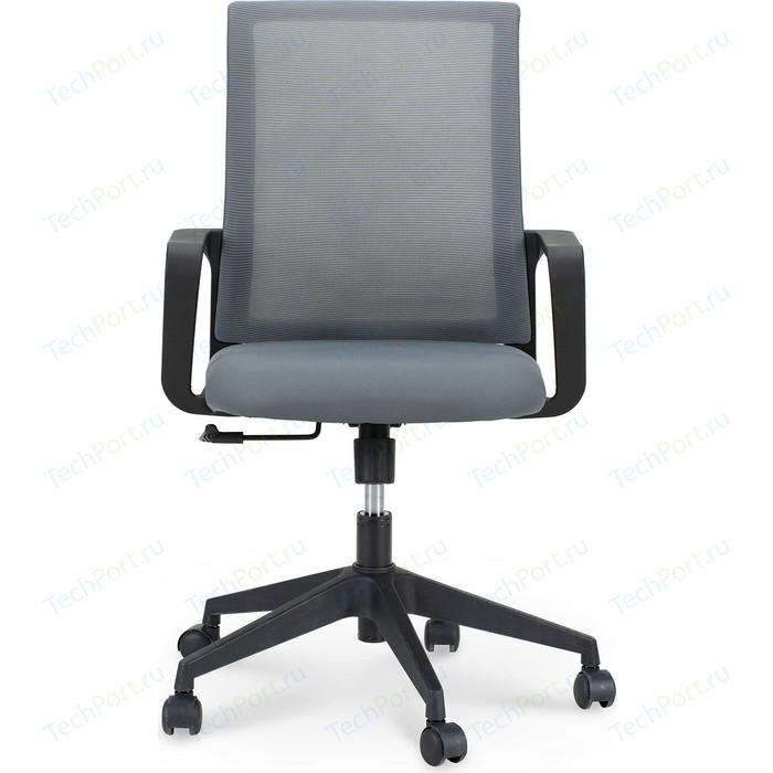 Кресло офисное NORDEN Стронг LB/ черный пластик/серая сетка/серая ткань стул союз мебель см 8 каркас черный ткань серая 2 шт