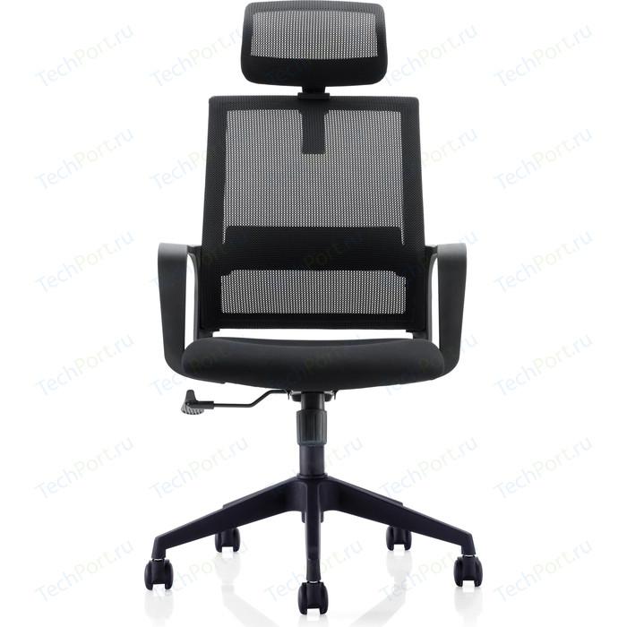 Кресло офисное NORDEN Практик черный пластик/черная сетка/черная ткань