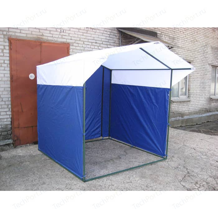 палатка belon радужный домик pink yellow пи 006 тф3 Палатка торговая Митек Домик 3,0х1,9 (разборная)(синий/желтый)