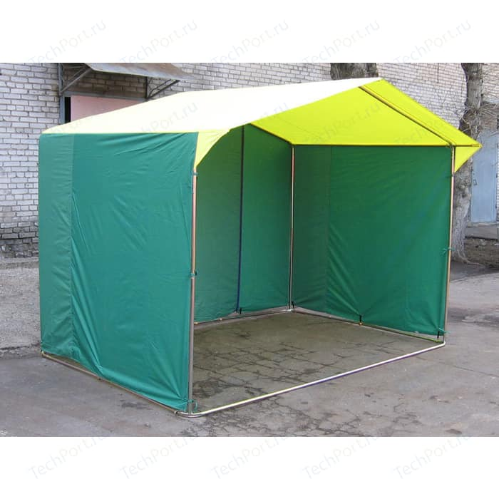 Палатка торговая Митек Домик 3,0х2,0 (труба D - 25 мм)(белый/синий)