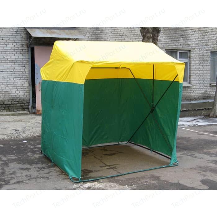 Палатка торговая Митек 2,0х2,0 P (кабриолет) (Зеленый/Желтый)