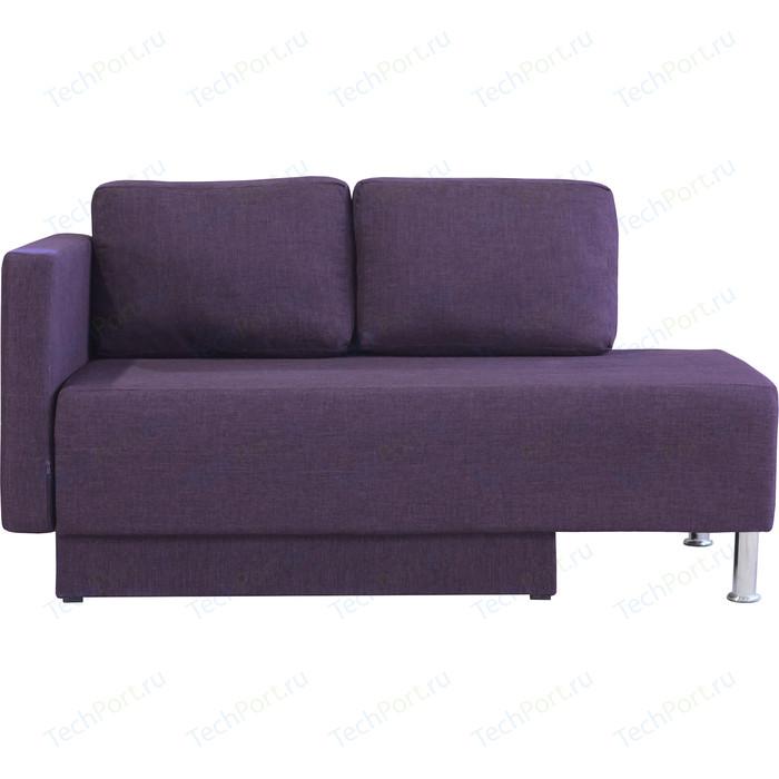 Кушетка Шарм-Дизайн Леон левый фиолетовый