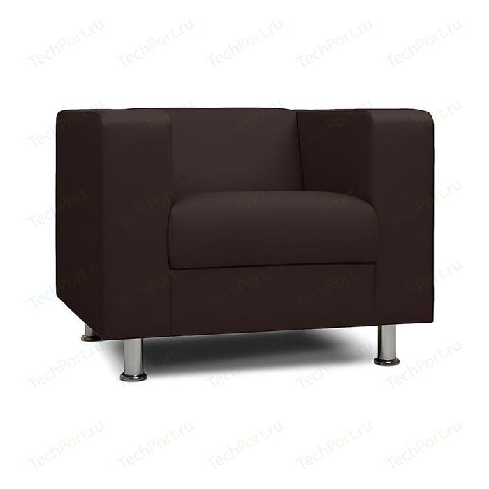 Кресло Шарм-Дизайн Бит коричневый офисное