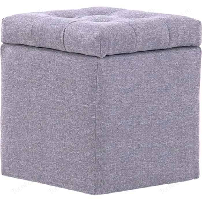 Пуф Шарм-Дизайн Шарм с ящиком светло-серый