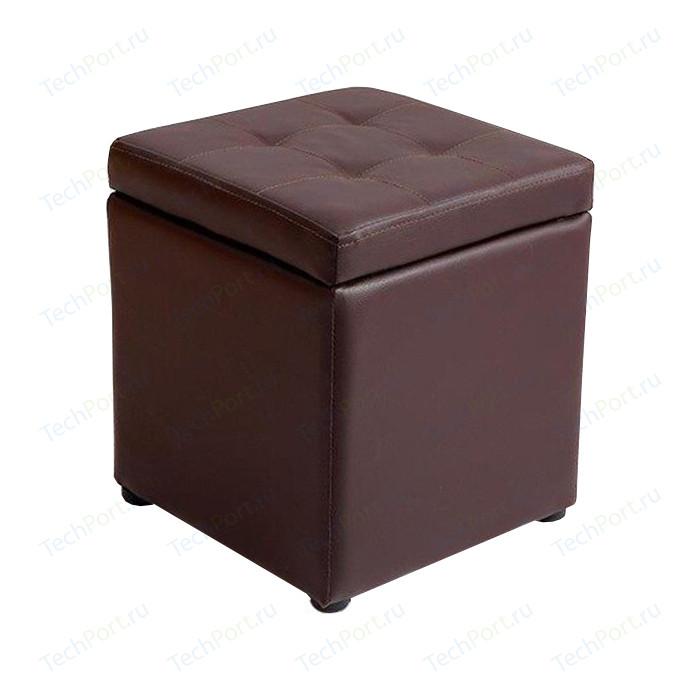 Пуф Шарм-Дизайн Евро с ящиком экокожа шоколад