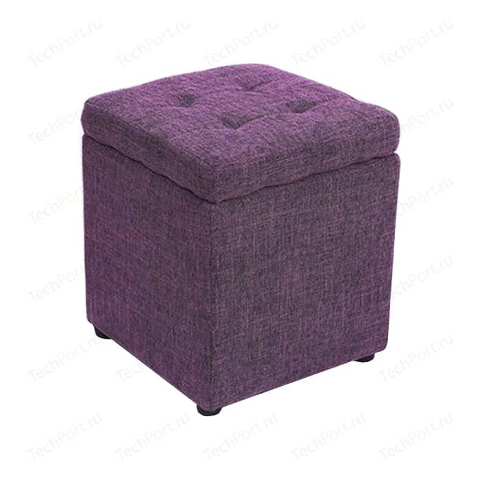 Пуф Шарм-Дизайн Евро с ящиком рогожка фиолетовый