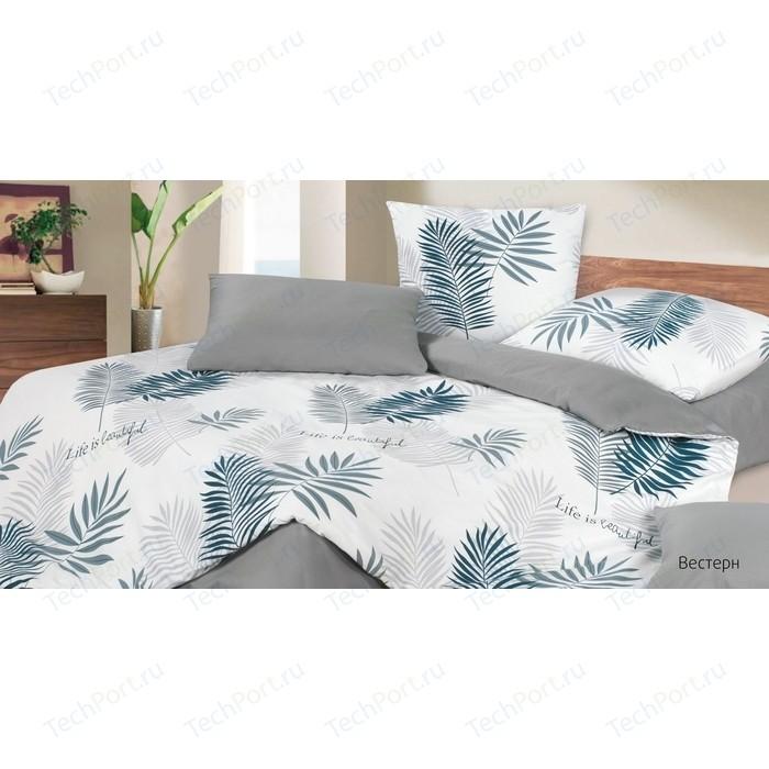 Комплект постельного белья Ecotex семейный, сатин, Гармоника Вестерн (4660054344374)