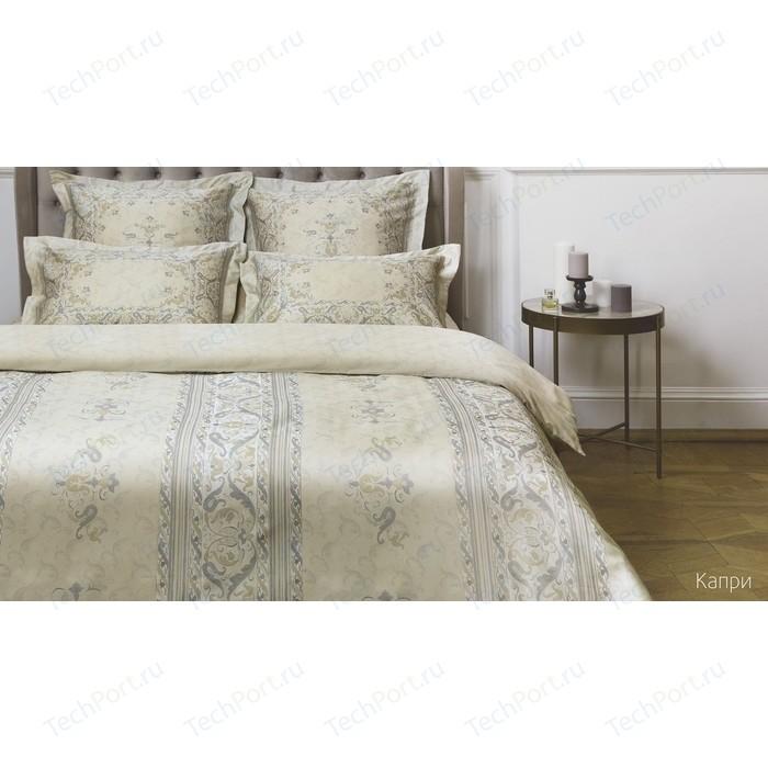 Комплект постельного белья Ecotex евро, сатин люкс, Новеллика Капри (4660054342622)