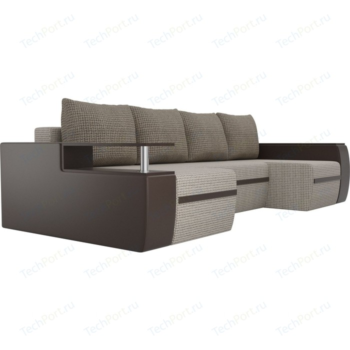 Фото - П-образный диван АртМебель Майами корфу 02/экокожа коричневый п образный диван артмебель майами корфу 03 экокожа бежевый