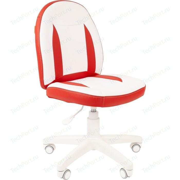 Кресло Chairman Kids 122 экопремиум белый/красный платье oodji ultra цвет красный белый 14001071 13 46148 4512s размер xs 42 170