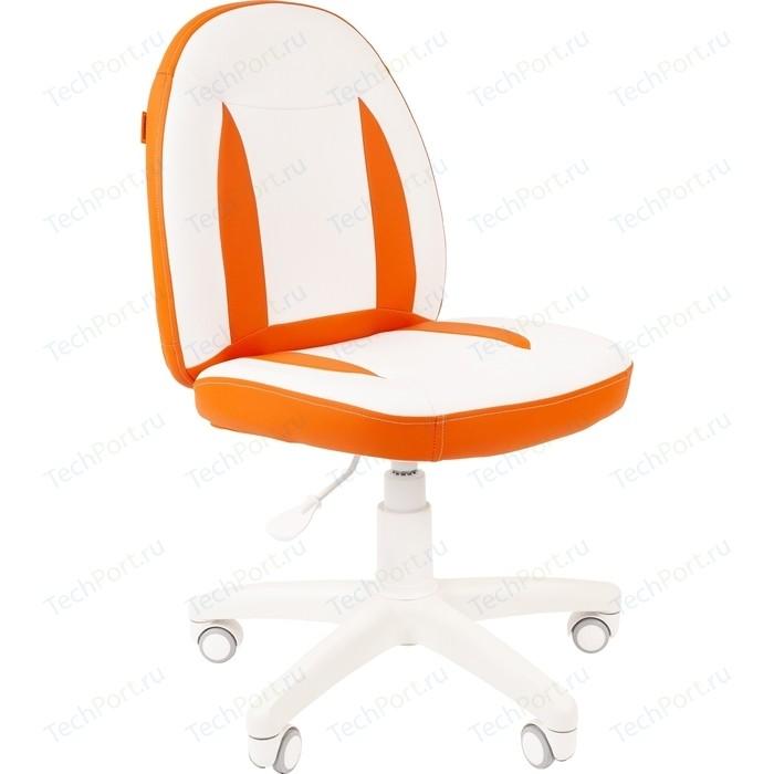 Кресло Chairman Kids 122 экопремиум белый/оранжевый