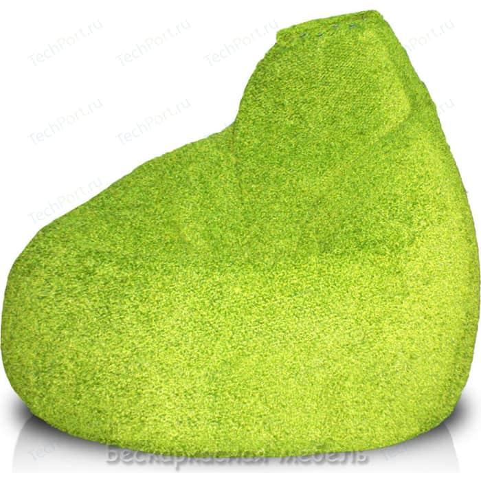Кресло-мешок POOFF Груша велюр светло зеленый XL