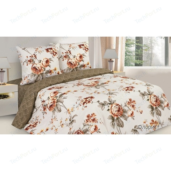 Комплект постельного белья Ecotex Евро, поплин, Поэтика Флорист (4650074956169)