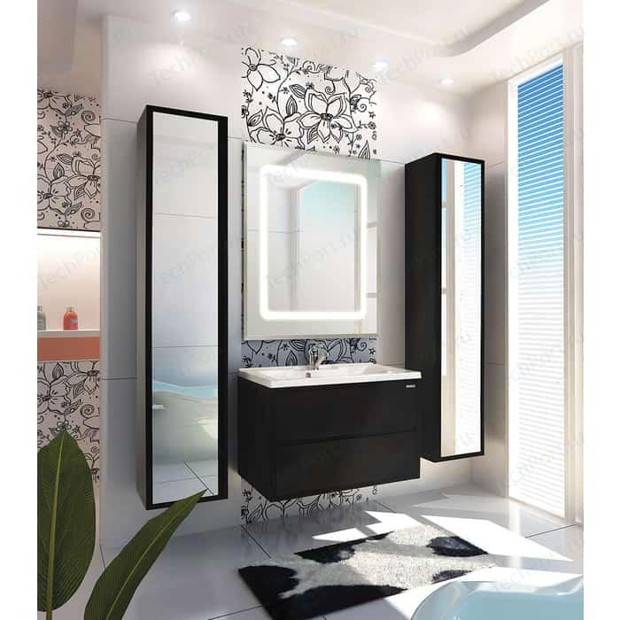 Мебель для ванной Акватон Римини 80 чёрный глянцевый