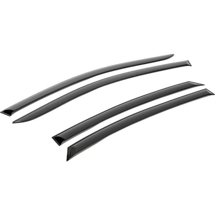 Дефлекторы окон AutoFlex для Hyundai Santa Fe IV 5-дв. (2018-н.в.), акрил, 823307